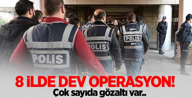 8 ilde FETÖ operasyonu: 14 gözaltı