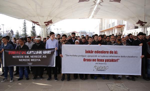 İdlip'te Ölenlere Gıyabi Cenaze Namazı