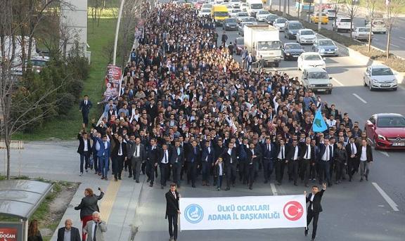 Adana Ülkü Ocakları Başbuğun Kabrine Sel Oldu Aktı