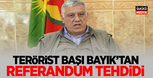 Terörist Başı Cemil Bayık'tan referandum tehdidi