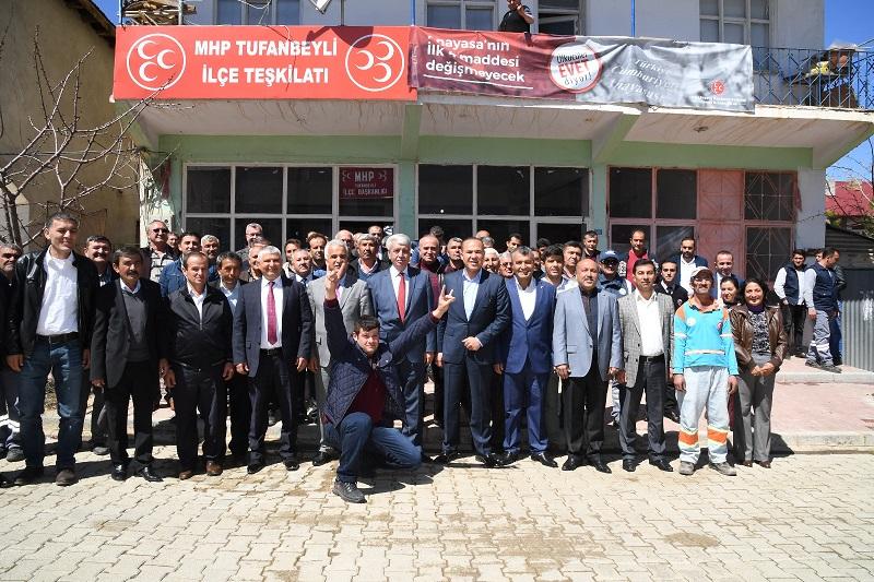 MHP Adana'dan EVET çıkarması