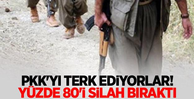 PKK'yı terk ediyorlar! Yüzde 80'i silah bıraktı