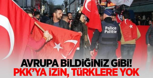 Avrupa bildiğiniz gibi: PKK'ya izin, Türklere yok!