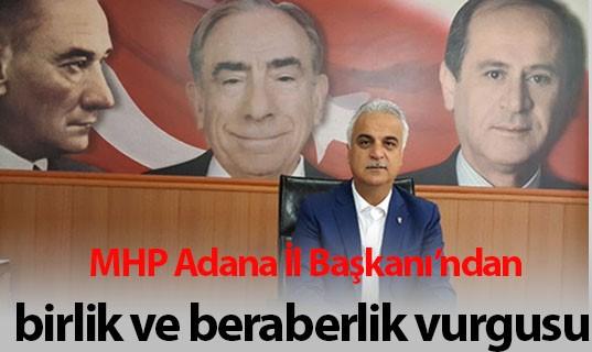 """MHP Adana İl Başkanı Yusuf Baş: """"Milli irade esastır"""""""