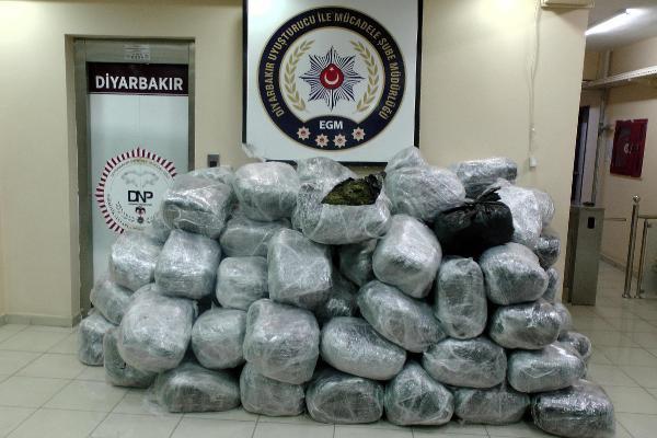 Diyarbakır'da 2 Ton 840 Kilo Esrar Ele Geçirildi