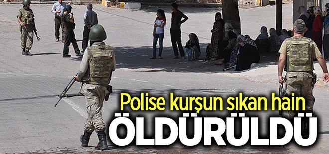 Polise kurşun sıkan hain öldürüldü