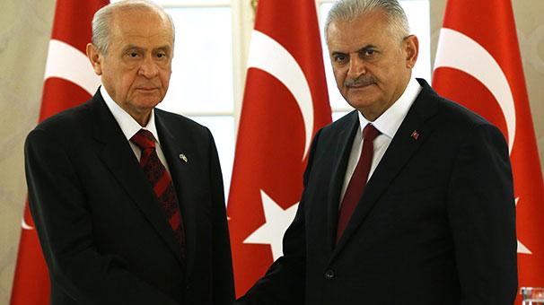 Başbakan Yıldırım ve Devlet Bahçeli'den sürpriz buluşma