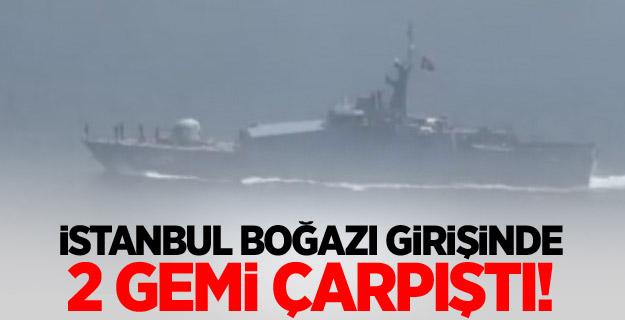 Karadeniz'de 2 gemi çarpıştı!