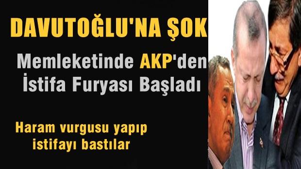 Davutoğlu'nun Memleketinde AKP'den istifa depremi!