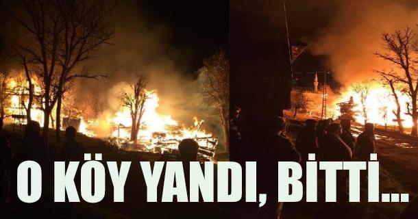 Çıkan Yangında Bir Köy Yok Oldu...