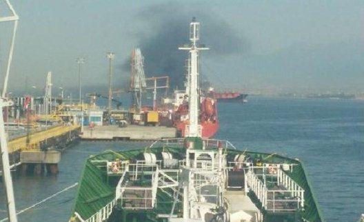 İzmit Körfezi'nde Tankerde Yangın