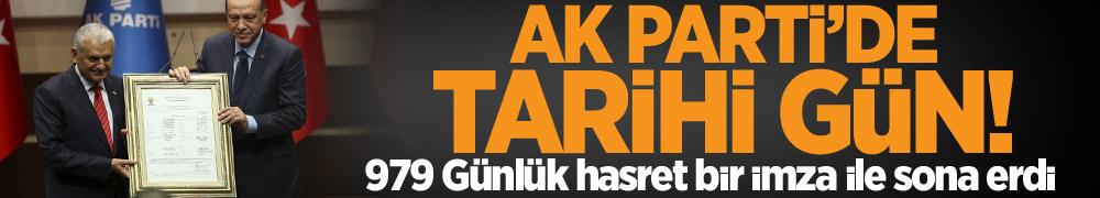 Cumhurbaşkanı Erdoğan resmen AK Parti'de...