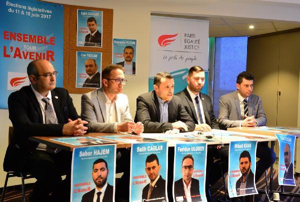 Fransa'da Türkler Tarafında Kurulan Parti Adaylarını Tanıttı
