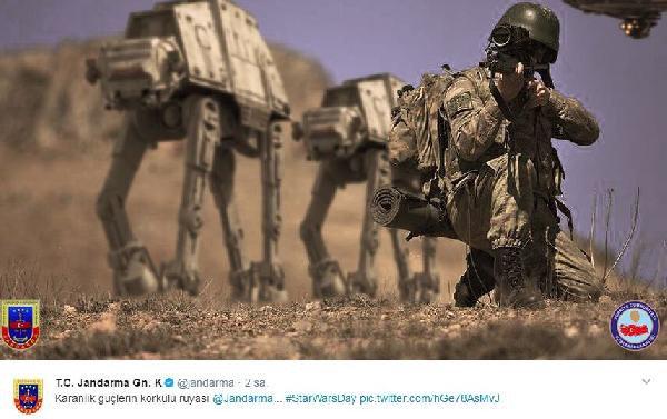 Jandarma'dan Dünya Star Wars Günü Paylaşımı