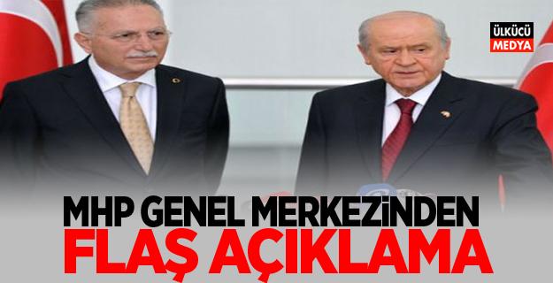 MHP Genel Merkezinden Flaş Açıklama