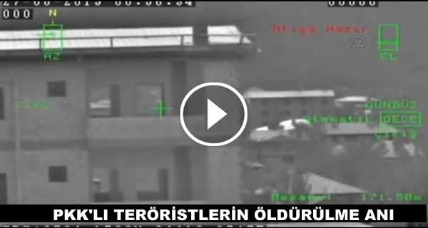 PKK'LI TERÖRİSTLERİN ÖLDÜRÜLME ANI VİDEO