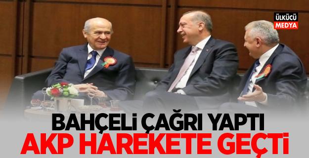 Devlet Bahçeli Çağrı Yaptı! AKP Harekete Geçti