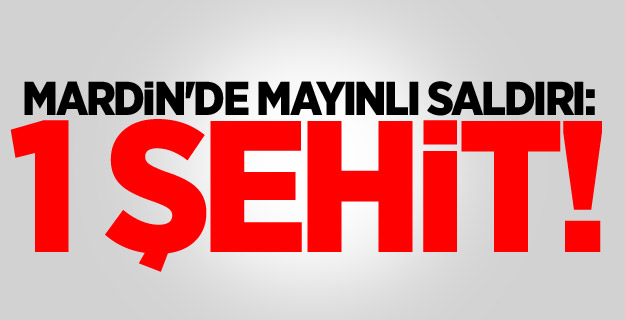 Mardin'de mayınlı saldırı: 1 şehit