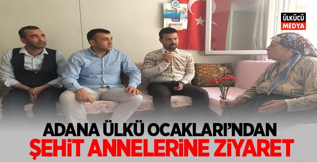 Adana Ülkü Ocakları'ndan şehit annelerine ziyaret