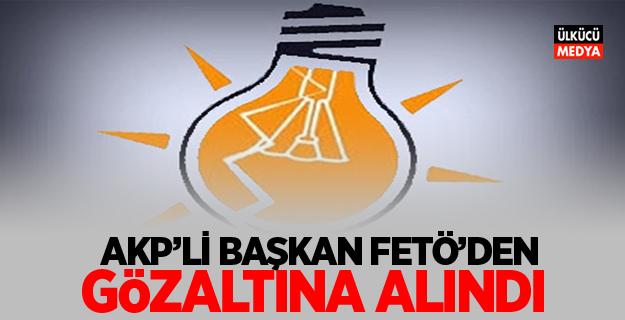 AKP'li Başkan FETÖ'den gözaltına alındı