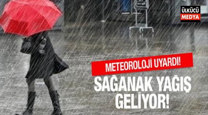 Meteoroloji, Saat Verdi Sağnak Yağış ve Dolu İçin Uyardı