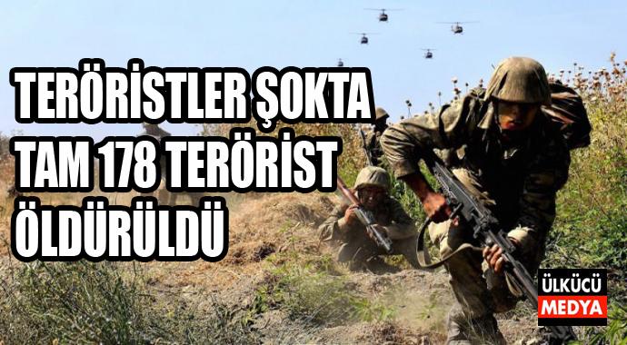 Teröristler Şokta Tam 178 Terörist Öldürüldü