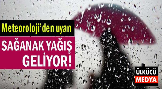 Marmara'ya Sağanak Yağış Geliyor