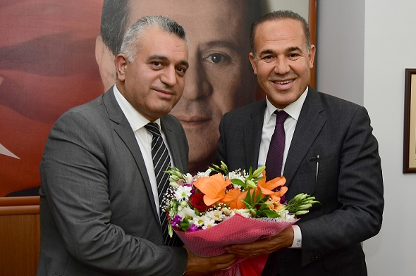 "Hüseyin Sözlü'den Adana İl Başkanı Duran'a ""Hayırlı olsun"" ziyareti..."