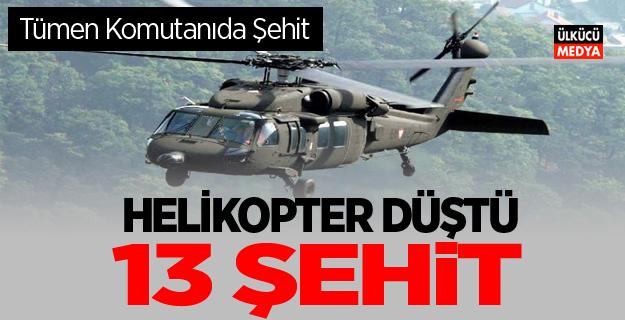Şırnak'ta helikopter düştü 13 şehit