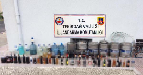 Tekirdağ'da Bin 650 Litre Sahte Rakı Ele Geçirildi