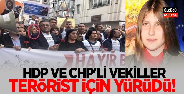 HDP ve CHP'li vekiller o terörist için yürüdü!