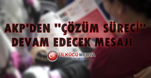 """AKP Kongresi'nin Kitapçığında """"Çözüm Süreci""""..."""