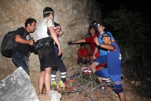 Kayalıklardan Düşen Üniversite Öğrencisi 8 Saat Sonra Kurtarıldı