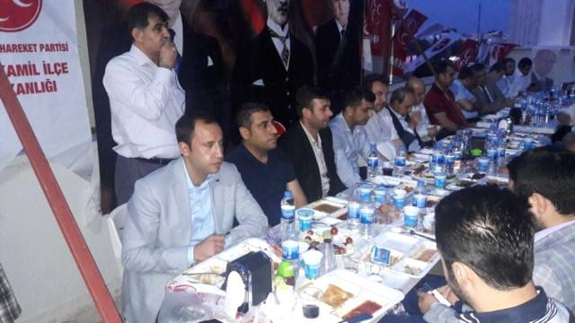MHP Şehitkamil İlçe Teşkilatı İftar Yemeğinde Buluştu