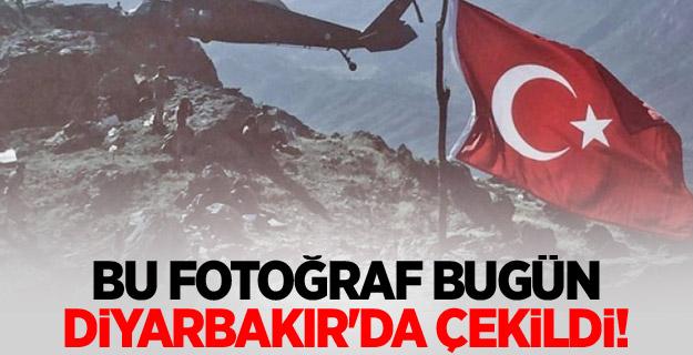 Bu fotoğraf bugün Diyarbakır'da çekildi!