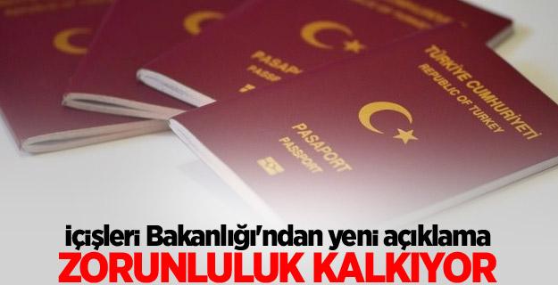 Pasaporta damga zorunluluğu kalkıyor