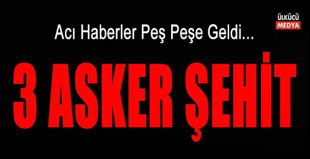 Erzurum ve Çukurda'dan Acı Haberler Geldi: 3 Asker Şehit