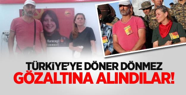 Kırmızı fularlı teröristin anne ve babası Türkiye'ye döner dönmez gözaltına alındı