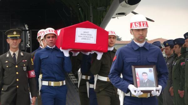 Şehit Uzman Çavuş Ahmet Erol'un Cenazesi Konya'da