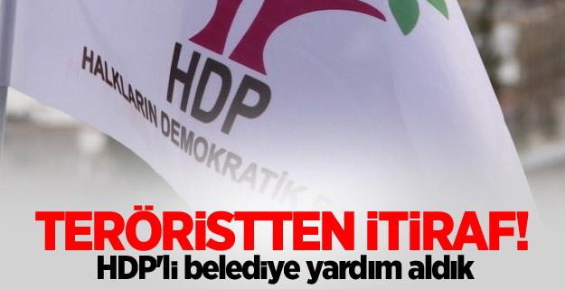 Teröristten itiraf! HDP'li belediye yardım aldık