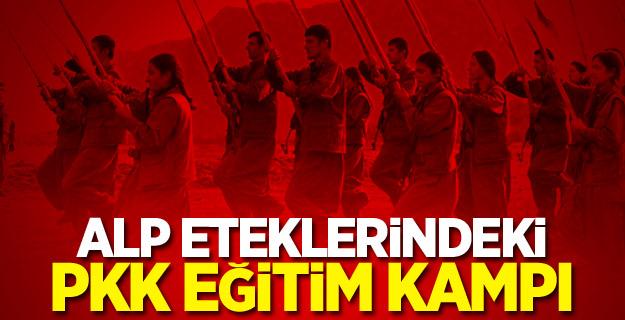 Alp eteklerindeki PKK eğitim kampı