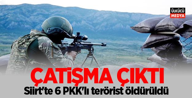 Siirt'te 6 PKK'lı terörist öldürüldü