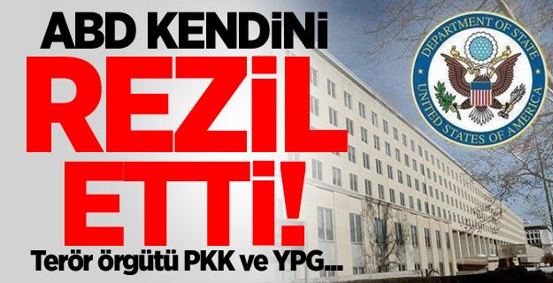 ABD kendini rezil etti! Terör örgütü PKK ve YPG...