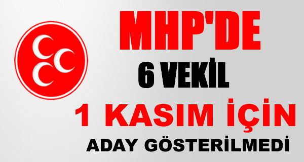 MHP'de 1 Kasım'da yeniden aday gösterilmeyen milletvekilleri
