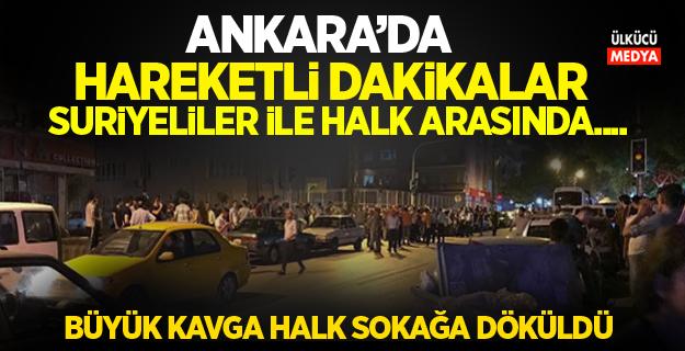 Ankara Demetevler'de Mahalleliler ve Suriyeliler arasında büyük kavga