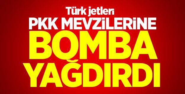 Türk jetleri Kuzey Irak'ı vurdu