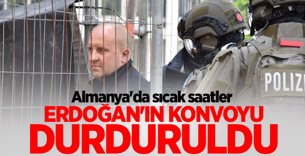 Erdoğan'ın konvoyu Durduruldu