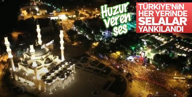 Tüm Türkiye'de sela sesleri! 90 bin camide aynı anda okundu