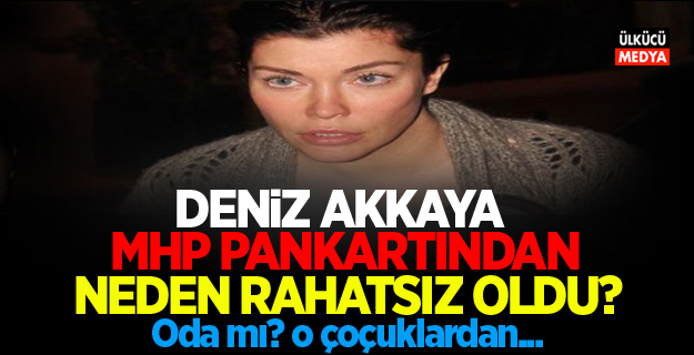 Deniz Akkaya: MHP Pankartından Neden rahatsız oldu?