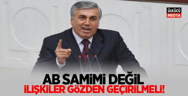 MHP'li Mehmet Günal; AB Samimi Değil! İlişkiler Gözden Geçirilmeli!